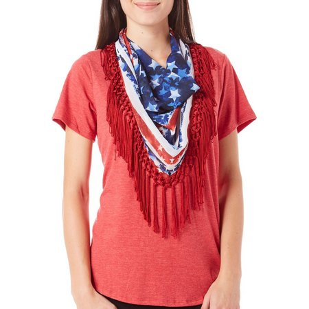 OneWorld Womens American Flag Scarf &-Shirt