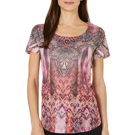 OneWorld Womens Printed Sublimation Top