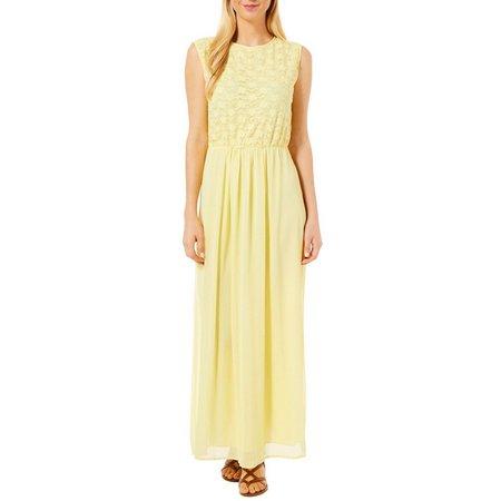 Gauze and Lace Maxi Dress