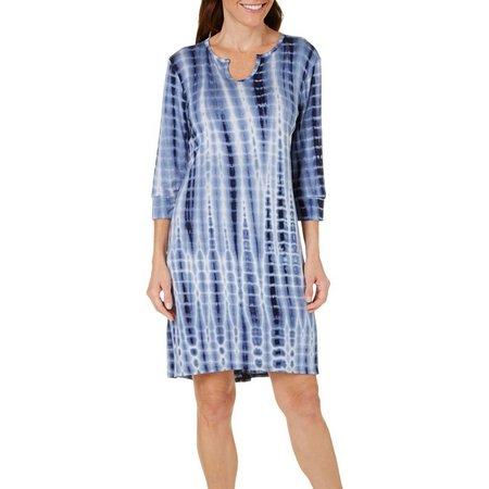 Silverwear Petite Tie Dye Print Dress