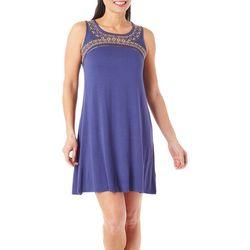 Spense Petite Embroidered Tank Dress