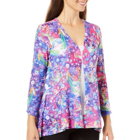 Leoma Lovegrove Womens SOS Lace Trim Cardigan