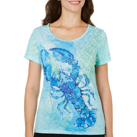 Leoma Lovegrove Womens Blue Plate Special Top