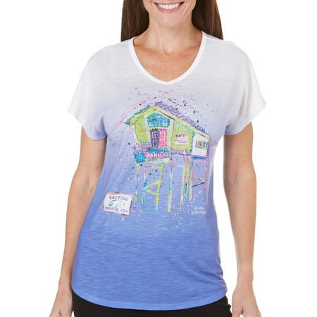 Leoma Lovegrove Womens Caution Manatee Area Top