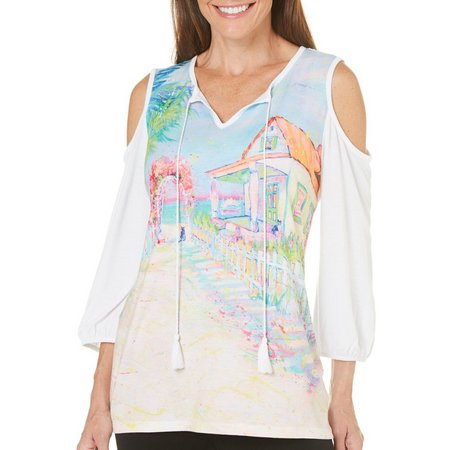 Leoma Lovegrove Womens Our House Cold Shoulder Top