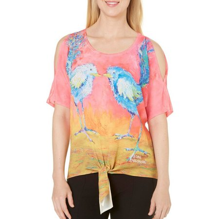 Leoma Lovegrove Womens Twitterous Tie Front Top