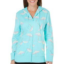 SunBay Petite Umbrella Hoodie Jacket