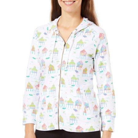 SunBay Petite Stilt House Hooded Jacket