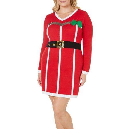 Allison Brittney Plus Mrs. Clause Dress