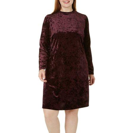 London Times Plus Velvet Shift Dress