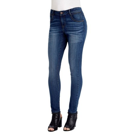 Democracy Womens Faded Medium Wash Denim Jeggings
