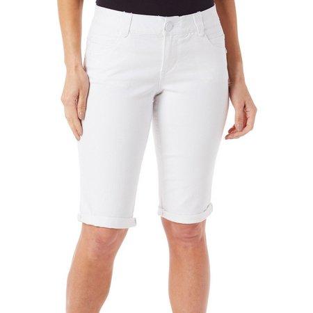 Democracy Womens Cuffed Bermuda Shorts