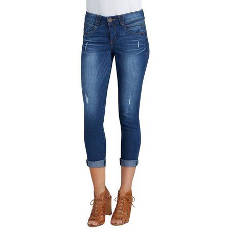 Democracy Womens Ab-solution Cuffed Denim Capris