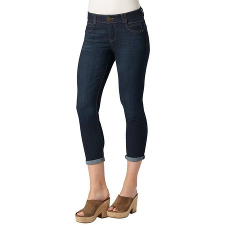 Democracy Womens Ab-solution Dark Denim Capris