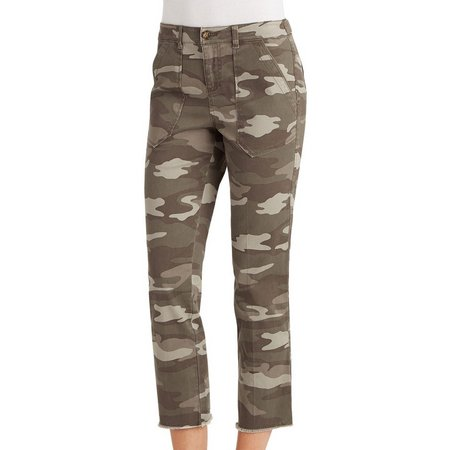 Democracy Womens Camouflage Print Ankle Pants