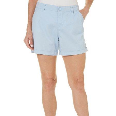 Blue Epic Womens Ruffle Cuff Shorts