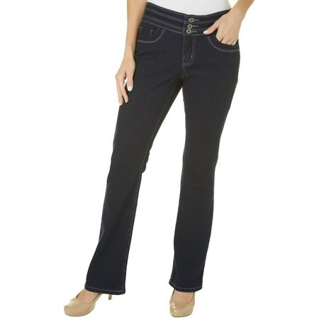 Blue Epic Womens Slim Boot Cut Jeans