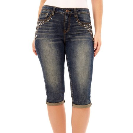 Angels Womens Signiture Denim Capris