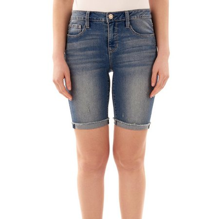 Angels Womens Signiture Bermuda Denim Shorts