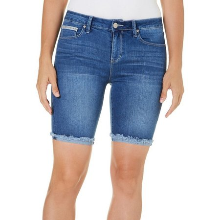 Angels Womens Signature Bermuda Jean Shorts