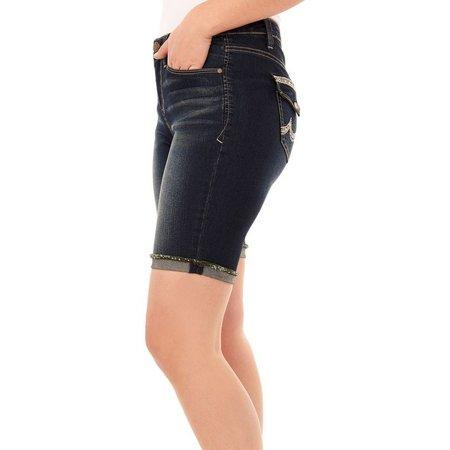 New! Angels Womens Signiture Bermuda Jean Shorts