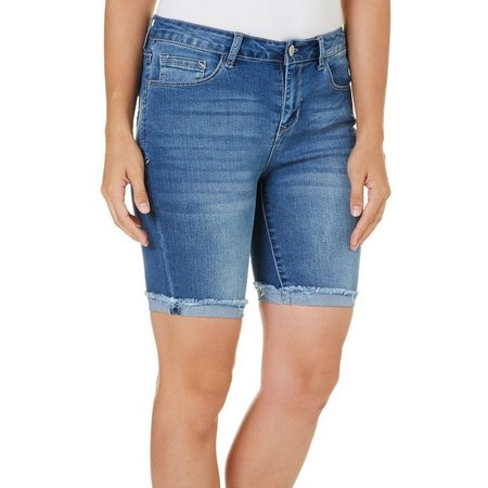 Angels Womens Signiture Bermuda Jean Shorts