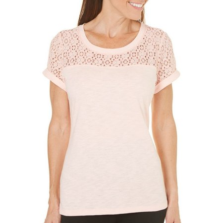 Juniper + Lime Womens Lucy Solid Top