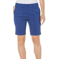 Juniper+ Lime Womens Hannah Dot Bermuda Shorts