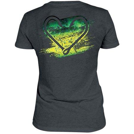 PELAGIC Womens Fishhook Logo V- Neck T-Shirt