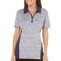 Coral Bay Golf Petite Space Dye Polo Shirt