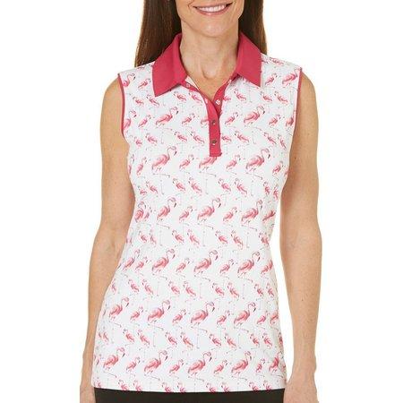 Coral Bay Golf Petite Flamindo Parage Polo Shirt
