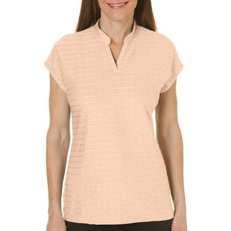 Coral Bay Golf Petite Stripe Polo Shirt