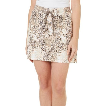 Coral Bay Golf Petite Animal Print Skort