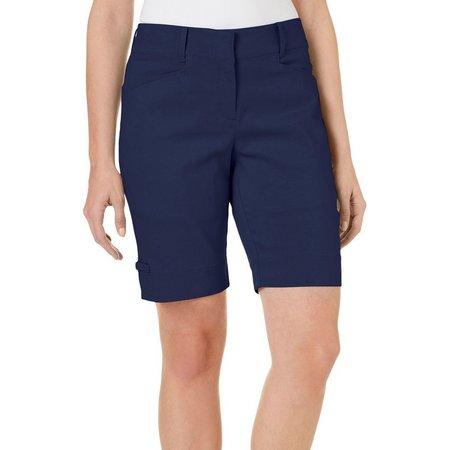 Coral Bay Golf Petite Bengaline Bermuda Shorts