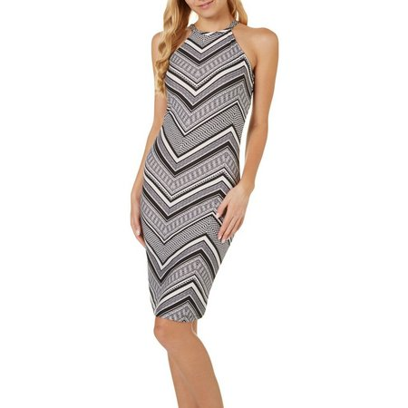 Hot Kiss Juniors Chevron Printed Cami Midi Dress