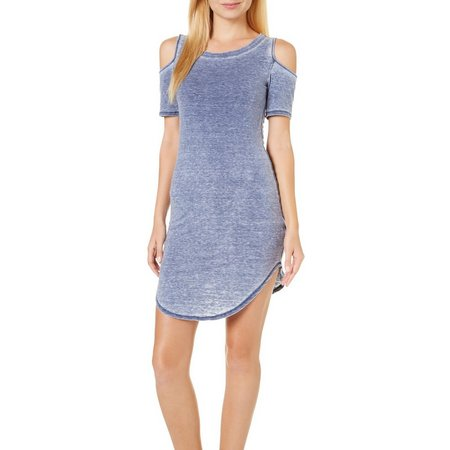 Heart & Hips Juniors Cold Shoulder Burnout Dress