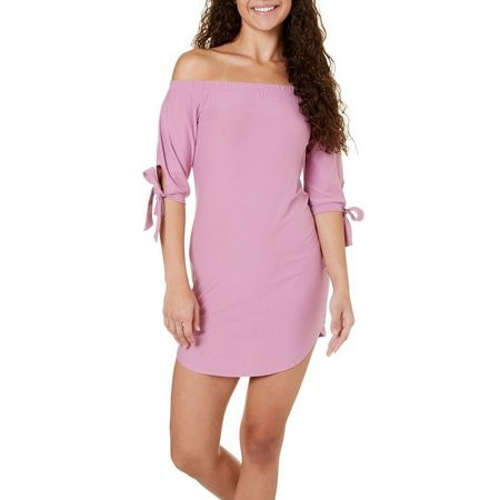 Derek Heart Juniors Off Shoulder Tie Dress