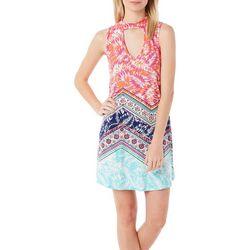 Derek Heart Juniors Chevron Print Gigi Dress