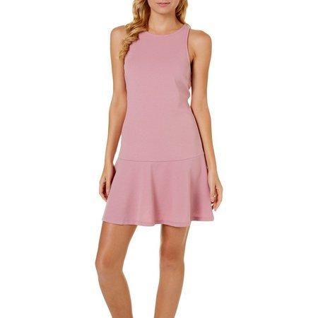 Derek Heart Juniors Dropped Waist Sleeveless Dress