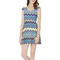 Derek Heart Juniors Chevron Crochet Dress