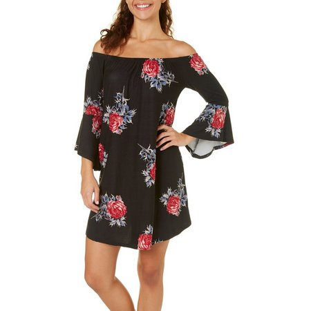 Derek Heart Juniors Off The Shoulder Floral Dress