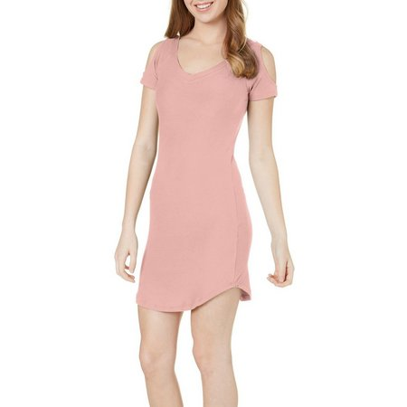Derek Heart Juniors Cold Shoulder Kylie Hem Dress