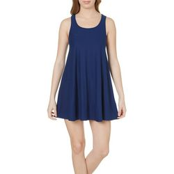 Derek Heart Juniors Solid Trapeze Dress