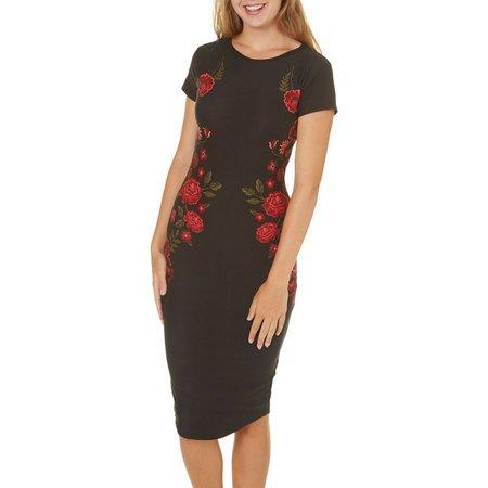 Derek Heart Juniors Floral Print Midi Dress