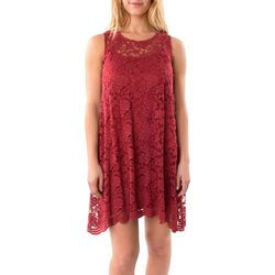 Wallflower Juniors Floral Lace Swing Dress