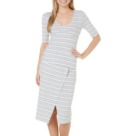 Almost Famous Juniors 2-pc. Stripe Midi Dress