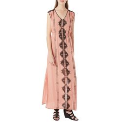 Taylor & Sage Juniors Aztec Embroidered Maxi Dress