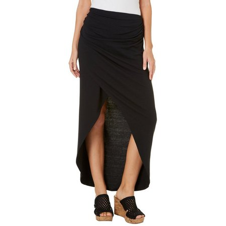 Joe Benbasset Juniors Solid Wrap Maxi Skirt