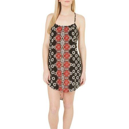 Angie Juniors Geo Print X-Back Dress