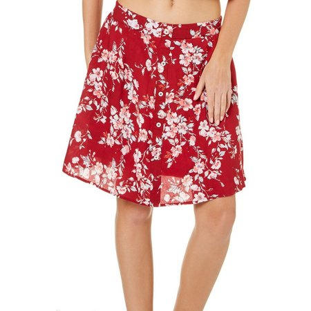 Dizzy Lizzy Juniors Floral A-Line Skirt